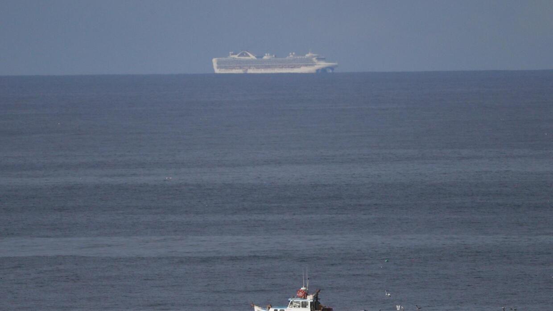 Du thuyền Grand Princess trên đường cập bến Oakland, Hoa Kỳ. Ảnh chụp ngày 08/03/2020.