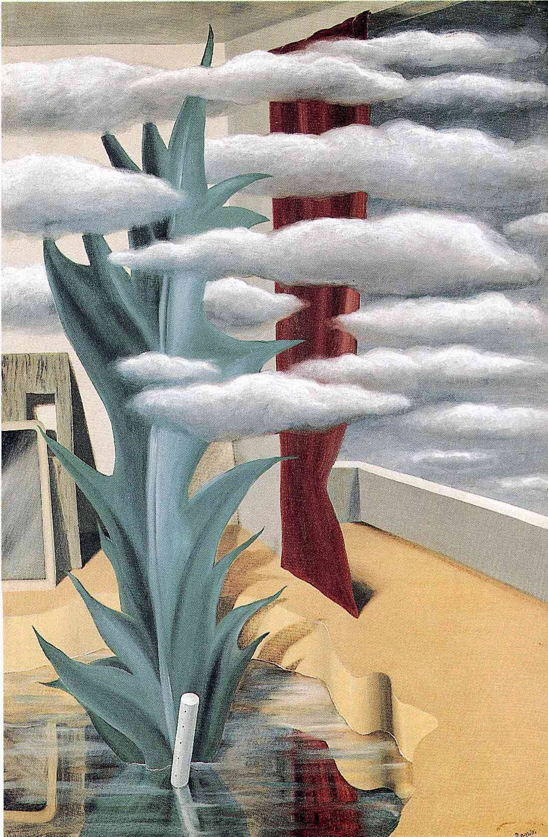After the Water, the Clouds, 1926Rene Magritte