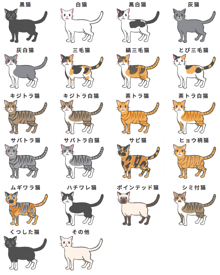 I made this cat colour chart using the images ...