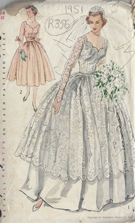 vintage sewing pattern  wedding dress