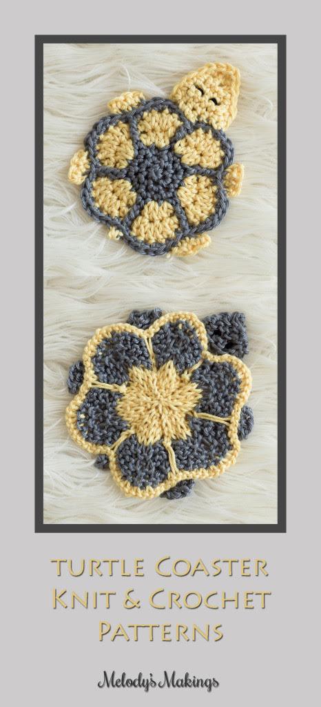 Turtle Coaster Knit & Crochet Patterns