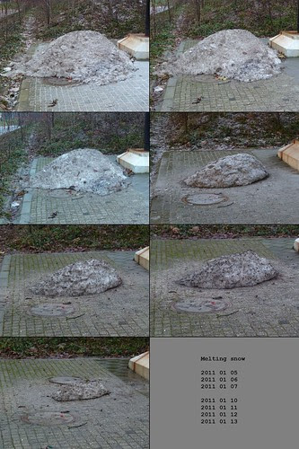 melting snow