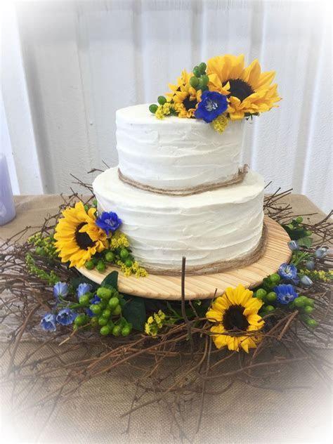 Sunflower Wedding Cake on Cake Central   Cake Ideas in