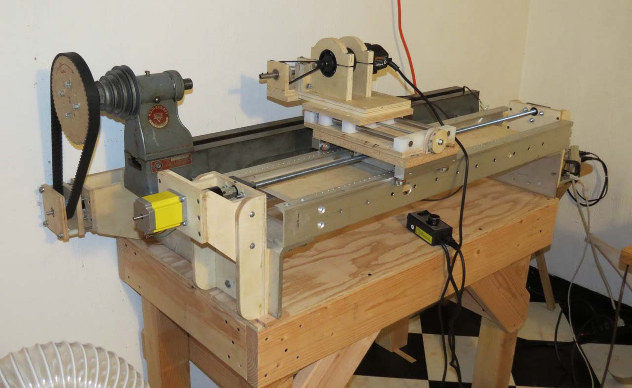 Home Made Cnc Wood Lathe   ofwoodworking