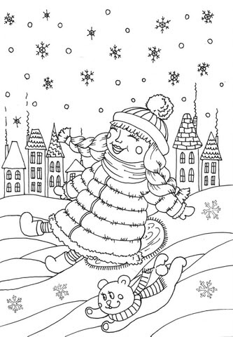 720 Free Printable January Coloring Pages For Adults , Free HD Download