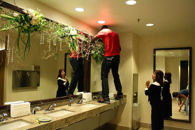 IMG_6067 installing bathroom decorations