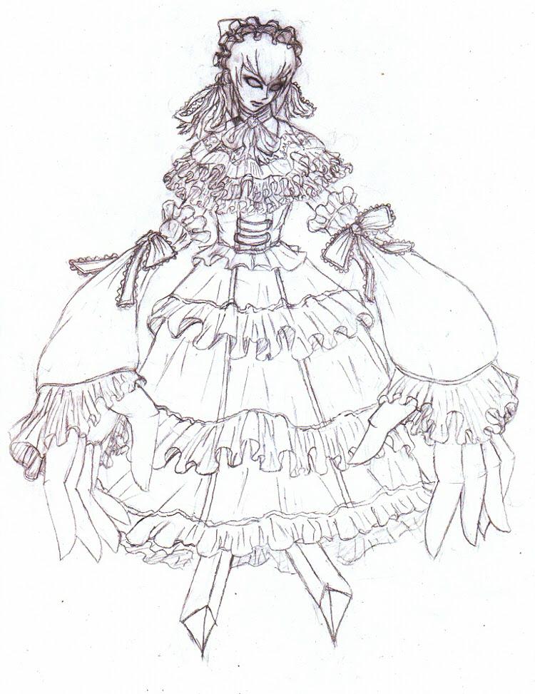 ドレス 描き方 イラスト
