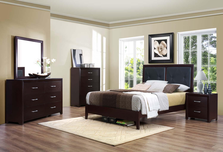 Homelegance Edina Bedroom Set - Brown Espresso B2145-BED-SET ...