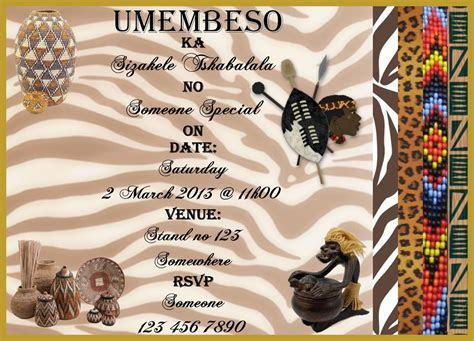 Umembeso Invites   Zulu in 2019   Wedding invitations