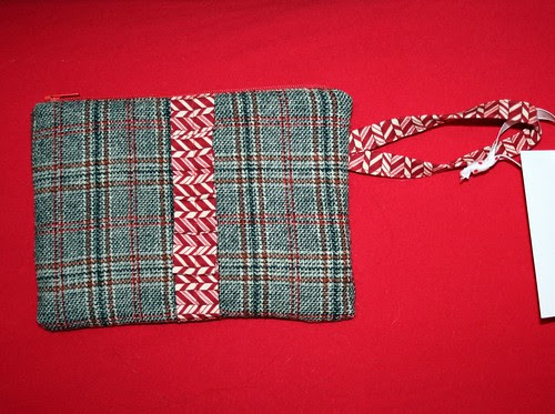 Wristlet made from old wool dress