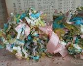 Spring Sale...Springtime Pastel Fringed Paper Garland for Easter Decorating - juliecollings