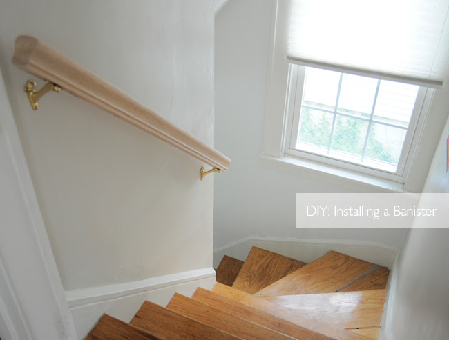 Home project: Installing a banister