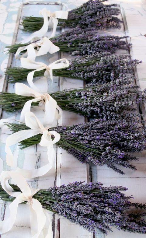 Lavendel mit Sahne Zierband-Bögen Brautjungfern Sträuße