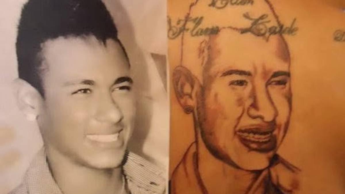Thats Not Neymar Failed Tattoo Of Brazilian On Fans Back Ascom