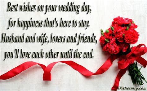 70  Wedding Wishes : Wedding Messages and Quotes   WishesMsg