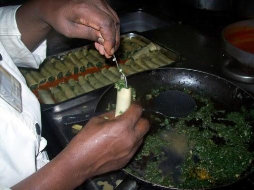 chef richard in burundi cooking greek-inspired food by me