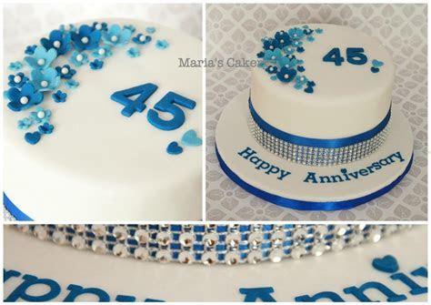 Sapphire Anniversary cake   45th anniversary   Pinterest