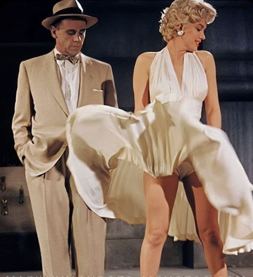Marilyn Monroe and Tom Ewell in 'The Seven Year Itch', 1954