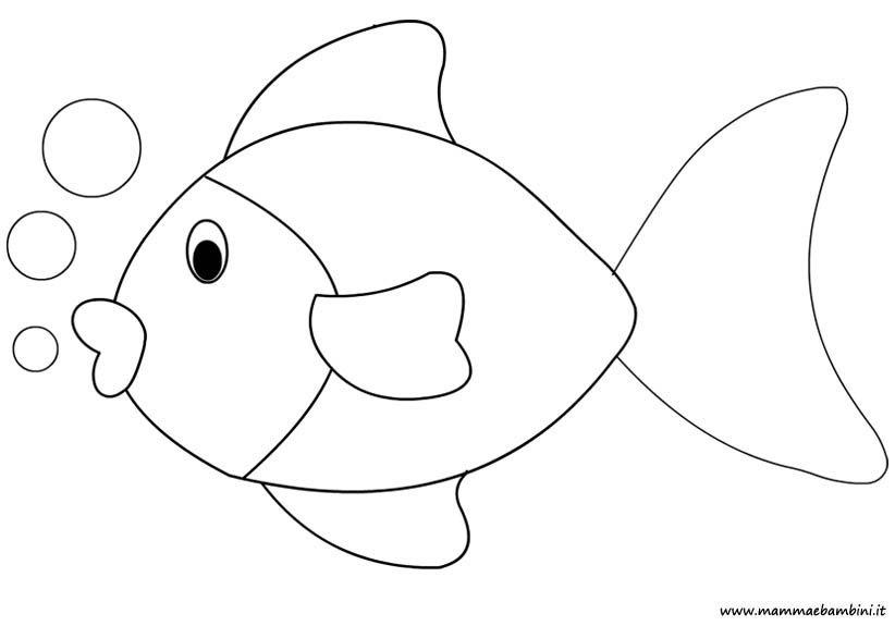 Disegno Pesce Da Colorare Mamma E Bambini