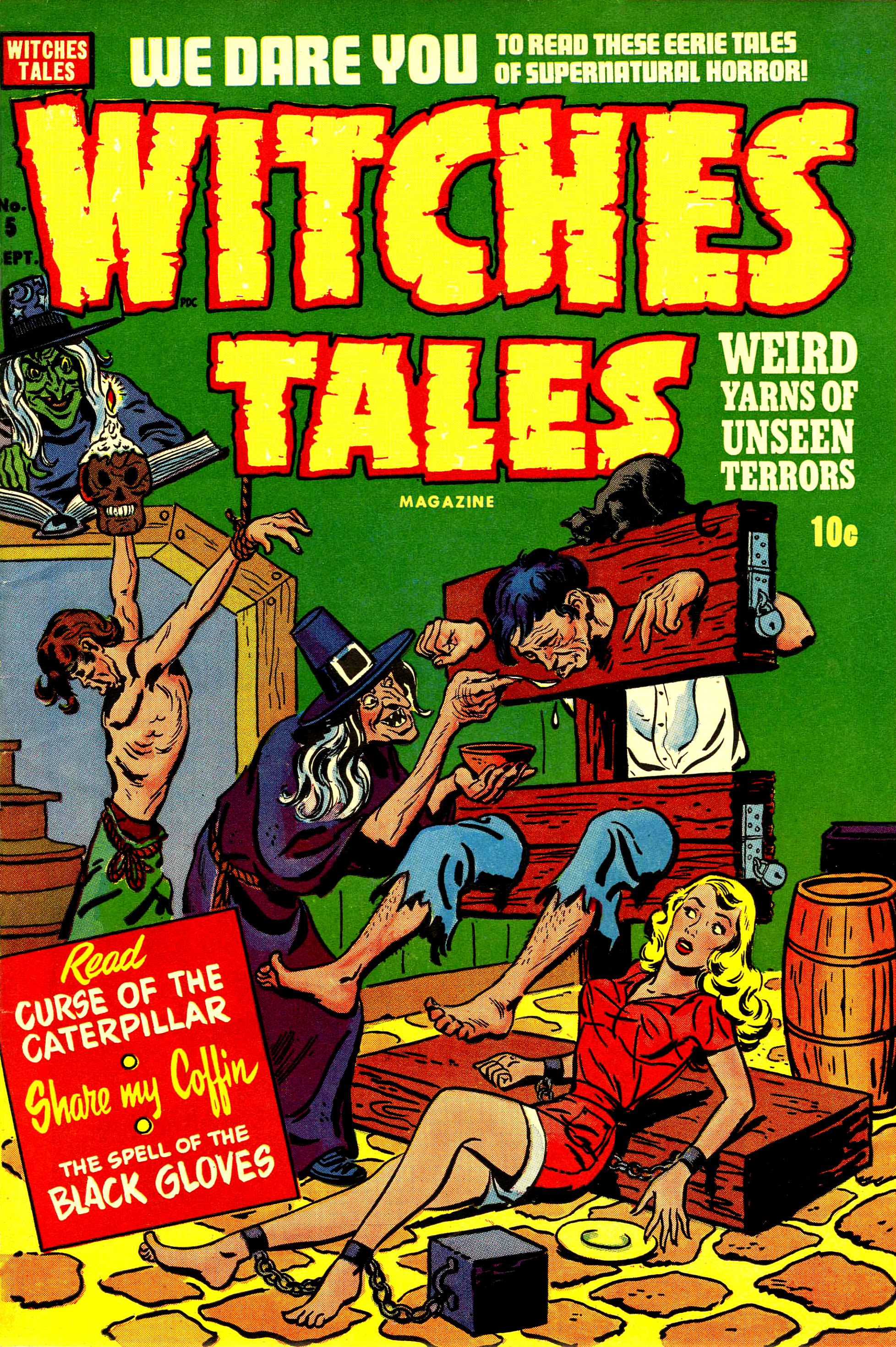Witches Tales #5, Al Avison Cover (Harvey, 1951)