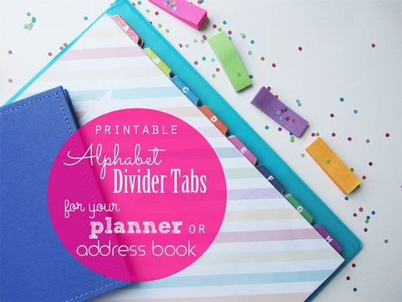 Printable Alphabet Tab Dividers for Daily Planner Pdf Printable ...