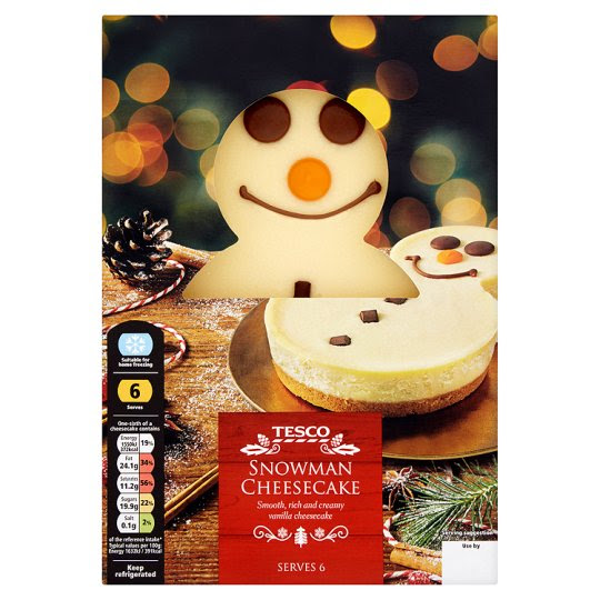 Tesco Snowman Cheesecake 570G