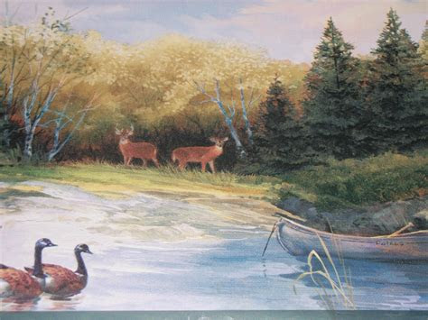 wallpaper deer  cabin wallpapersafari