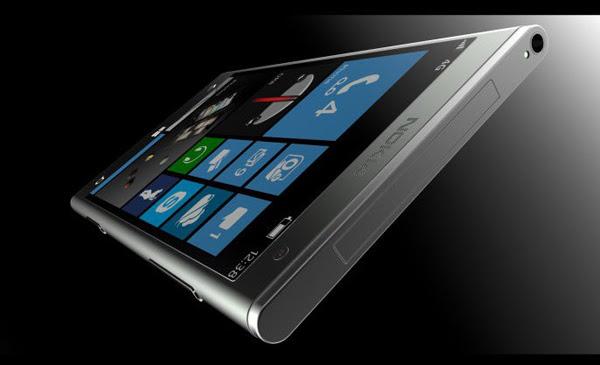 """Projeção do Nokia """"Eos"""", agora chamado de Lumia 1000 (Foto: Reprodução/UberGizmo)"""