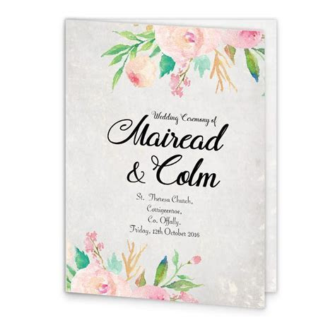 Floral Beauty Mass Booklet Cover   Loving Invitations