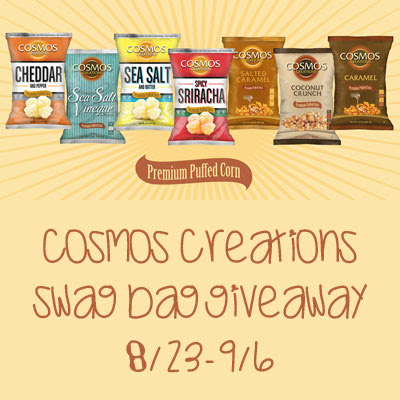 Enter the Cosmos Creations Swag Bag Giveaway. Ends 9/7