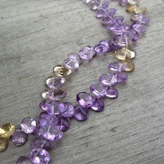 ametrine bead briolette