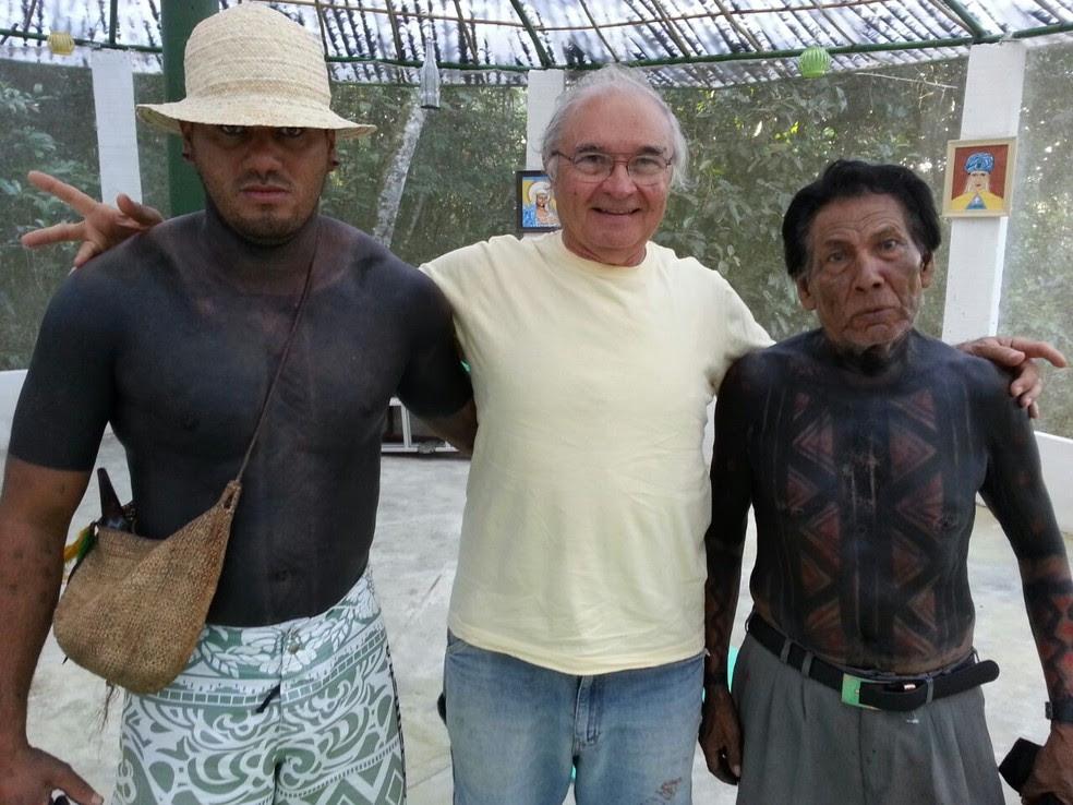 Índios da tribo Fulni-ó de Águas Belas se mobilizaram para tentar libertar o pesquisador (Foto: Patrícia Alves/Acervo Pessoal)