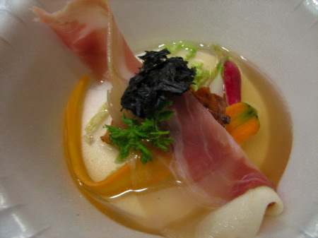 Bacon Dashi with Salt-Pickled Fall Vegetables