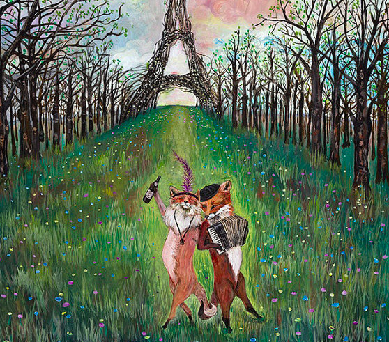 """""""De todas as coisas secretas, o amor é a mais pública"""", Honoré de Balzac (Ilustração de Jahna Vashti)"""