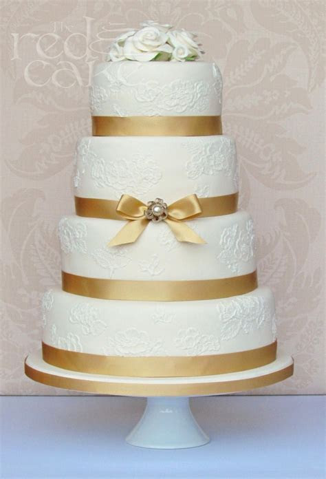 gold vintage wedding cake. This would be fantastic for a