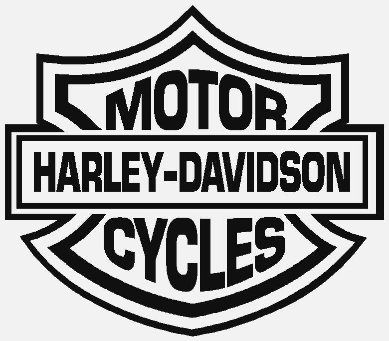 Harley Davidson Logo Line Drawing