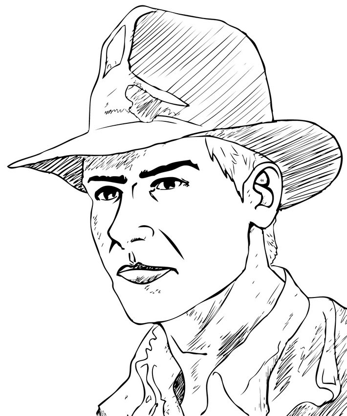 indiana jones printable coloring pages