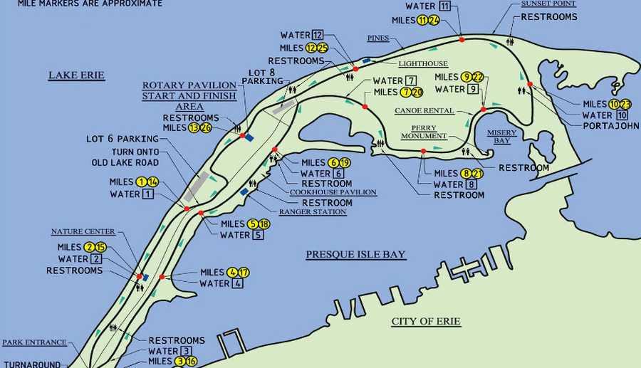 Presque Isle Bike Trail Map Bicycling And The Best Bike Ideas