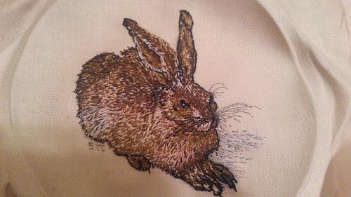 Crewel work Dürer hare