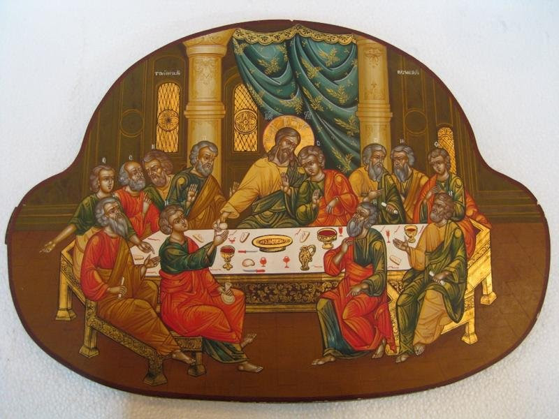Antique Russian Icon Of The Last Supper For Sale Antiquescom