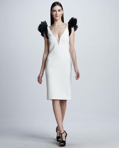 Ralph Lauren Collection Ruffle Sleeve Dress