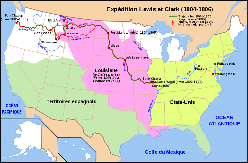 Archivo:Carte Lewis-Clark Expedition-fr.svg
