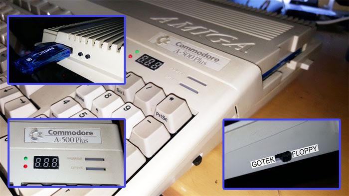 El modding para el Amiga 500 ( Gotek + floppy )