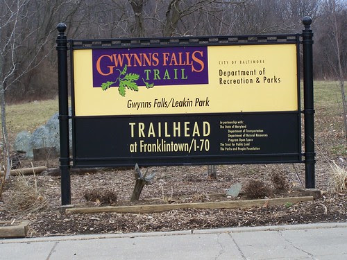 Trailhead sign, Gwynn Falls Trail
