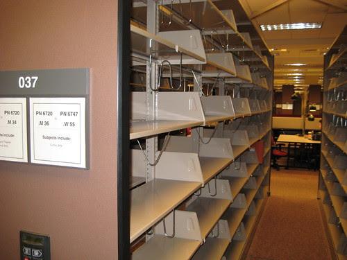 Empty Graphic Novel Shelves
