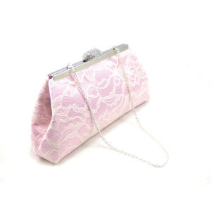 Custom Dusty Rose And Ivory Bridesmaid Clutch