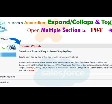 Salesforce LWC Create Expanded or Collapsed custom (Expandable/Collapsible & Toggle)  accordion section that is open multiple section in Salesforce |  LWC