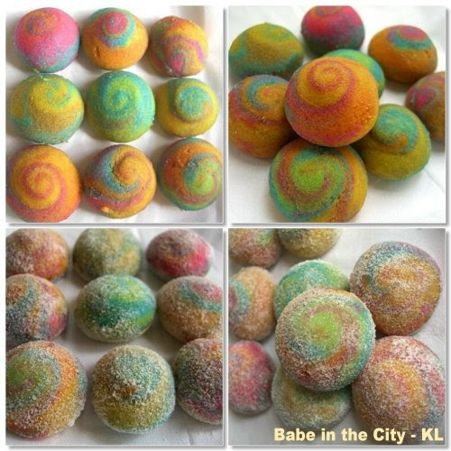 colourful ghee biscuits