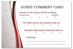 PCS-1092 - salon postcard flyer