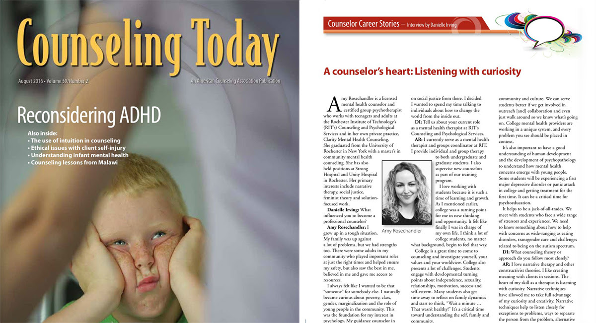 Amy Rosechandler featured in Counseling Today Magazine ...